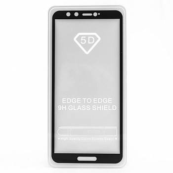 Стекло Full Glue- Huawei Honor 9 Lite -черный,  (техпак)