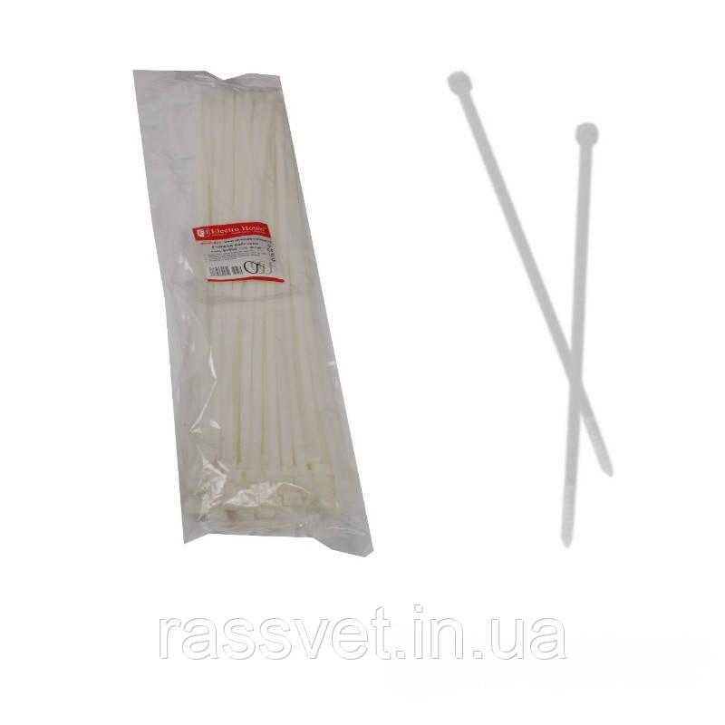 ElectroHouse кабельна Стяжка біла 8х500мм./100шт./п