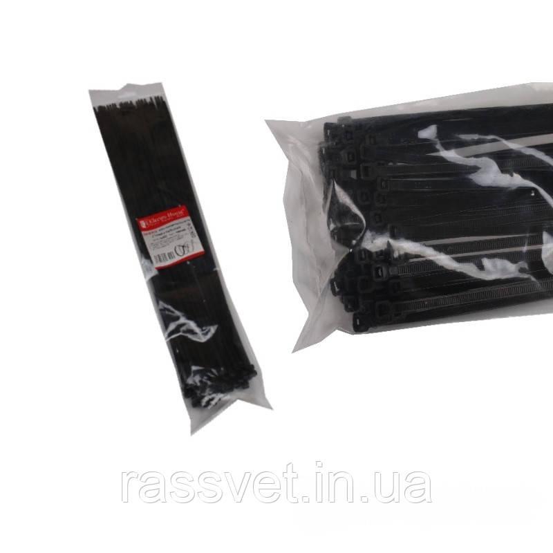 ElectroHouse Стяжка кабельная черная 8x550мм. 100шт./п