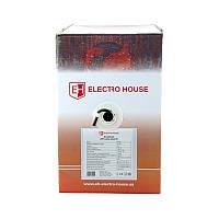 ElectroHouse Кабель витая пара UTP 4х2х0,51 CCA (наруж. монтаж) ПЭ черный