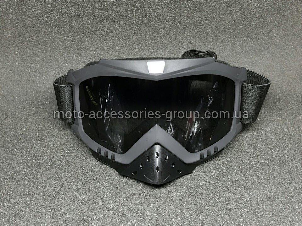 Кроссовые очки BEON черные, тонированное стекло
