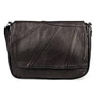 Женская кожаная сумка через плечо LT 5613 черная