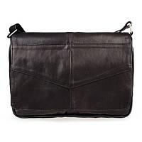 Женская кожаная сумка через плечо LT 5616 черная
