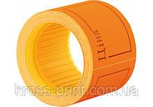 """Етикетки-цінники """"Ціна"""" Economix 50х40 мм помаранчеві (100 шт. / рул.), E21307-06"""