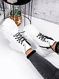 Ботинки женские Lazar белые натуральная кожа, фото 4