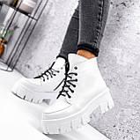 Ботинки женские Lazar белые натуральная кожа, фото 3