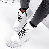 Ботинки женские Lazar белые натуральная кожа, фото 5