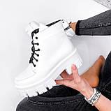 Ботинки женские Lazar белые натуральная кожа, фото 10