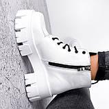 Ботинки женские Lazar белые натуральная кожа, фото 8