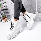 Ботинки женские Lazar белые натуральная кожа, фото 9
