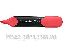 Маркер текстовыделитель SCHNEIDER JOB 1-4,5 мм, красный