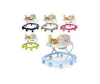 Ходунки M 3656-2 мишка,муз,свет,колеса7шт,стопоры2шт, рег.высота, 5 цветов(M 3656-2)