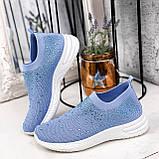 Кроссовки женские Diamond голубые из текстиля, фото 2