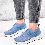 Кроссовки женские Diamond голубые из текстиля, фото 5