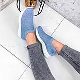 Кроссовки женские Diamond голубые из текстиля, фото 6