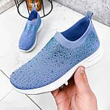 Кроссовки женские Diamond голубые из текстиля, фото 7