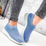 Кроссовки женские Diamond голубые из текстиля, фото 9