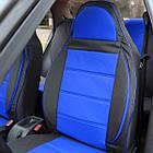 Чехлы на сиденья Хонда Цивик (Honda Civic) (универсальные, кожзам+автоткань, пилот), фото 2