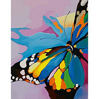 Картины по номерам Набор, техника акриловая живопись по номерам Яркая бабочка, 35х45 см, ROSA N00013206