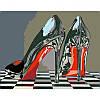Набор, техника акриловая живопись по номерам Туфли, 35х45 см, ROSA N00013199 (N00013199 x 227703)