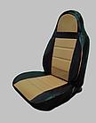 Чохли на сидіння ДЕУ Матіз (Daewoo Matiz) (модельні, кожзам, пілот), фото 3