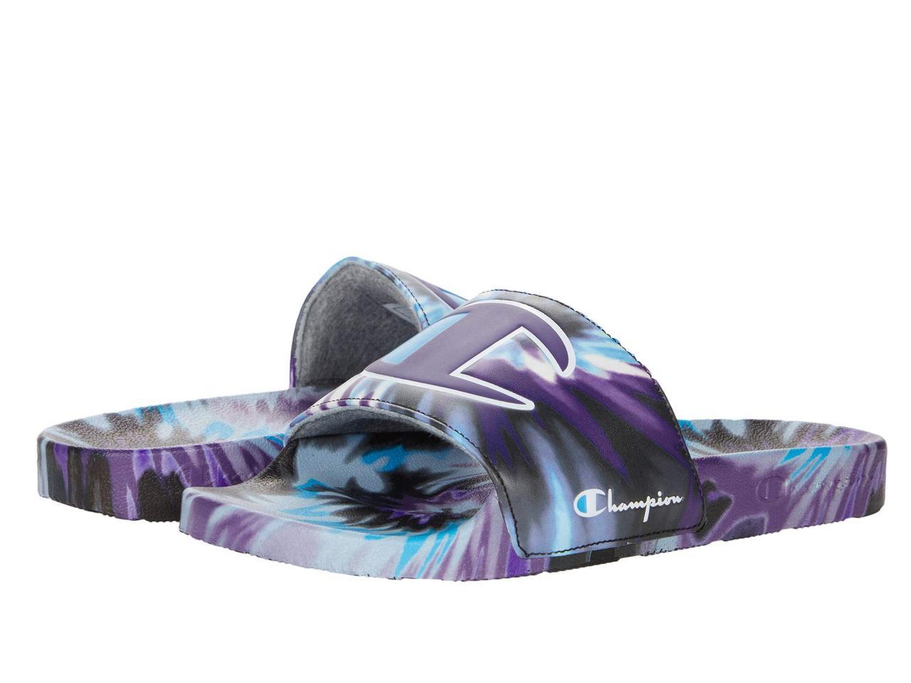 Сандали/Вьетнамки (Оригинал) Champion Ipo Tie-Dye Black/Purple/Teal