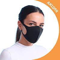 ✨ Многоразовая Защитная маска Питта  комплект 3шт. черная (PITTA+3) без клапана, используется во всем мире ✨