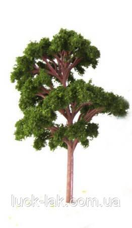 Дерево для діорам і макетів заввишки 12 см, колір зелений темний