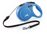 Flexi (Флекси) Рулетка поводок New Classic M blue/голубая, трос 8м до 20кг
