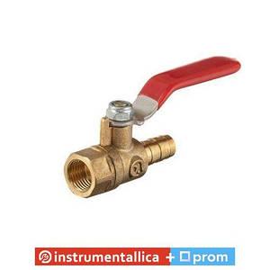 Кран шаровый воздушный латунь внутренняя резьба 1/4 на шланг 10 мм STORM PT-1889 Intertool