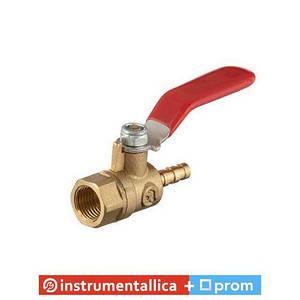 Кран шаровый воздушный латунь внутренняя резьба 1/4 на шланг 6 мм STORM PT-1885 Intertool