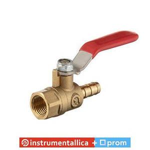 Кран шаровый воздушный латунь внутренняя резьба 1/4 на шланг 8 мм STORM PT-1887 Intertool