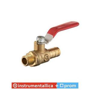 Кран шаровый воздушный латунь наружная резьба 1/4 на шланг 12 мм STORM PT-1892 Intertool