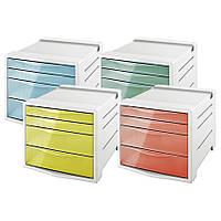 Шкафчик 4 ящика Esselte ColourIce 62628 (626283(абрикосовый) x 205734)