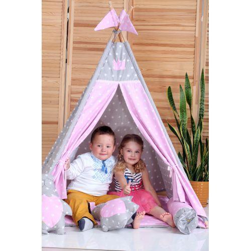 Детская палатка Принцесса ИНДИВИДУАЛЬНЫЙ набор. Детский вигвам, детский домик, игровой шалаш, вигвам детский