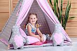 Детская палатка Принцесса ИНДИВИДУАЛЬНЫЙ набор. Детский вигвам, детский домик, игровой шалаш, вигвам детский, фото 2