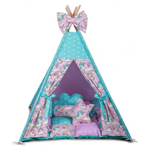 Детская палатка Единороги ИНДИВИДУАЛЬНЫЙ набор. Детская вигвам, игровой шалаш, вигвам детский, вигвам