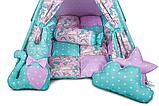 Детская палатка Единороги ИНДИВИДУАЛЬНЫЙ набор. Детская вигвам, игровой шалаш, вигвам детский, вигвам, фото 3