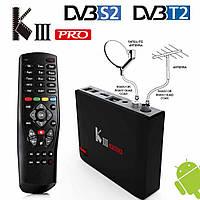 Смарт TV приставка MECOOL KIII Pro Android 7,1 Nougat + DVB-T2 + DVB-S2 + IP ТБ, дозвіл відео 3840x2160 4K