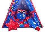 Дитячий намет, комплект Космос, килимок БОНБОН. Дитячий вігвам, ігровий курінь, вігвам дитячий, фото 2