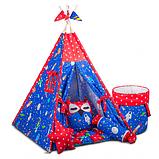 Дитячий намет, комплект Космос, килимок БОНБОН. Дитячий вігвам, ігровий курінь, вігвам дитячий, фото 3