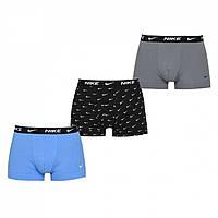 Трусы Nike Pack Boxer Trunks Gry/Bl/AOP 9JI - Оригинал, фото 1