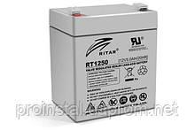 Аккумуляторная свинцово-кислотная батарея AGM RITAR RT1250 Gray Case 12V 5.0Ah Q10