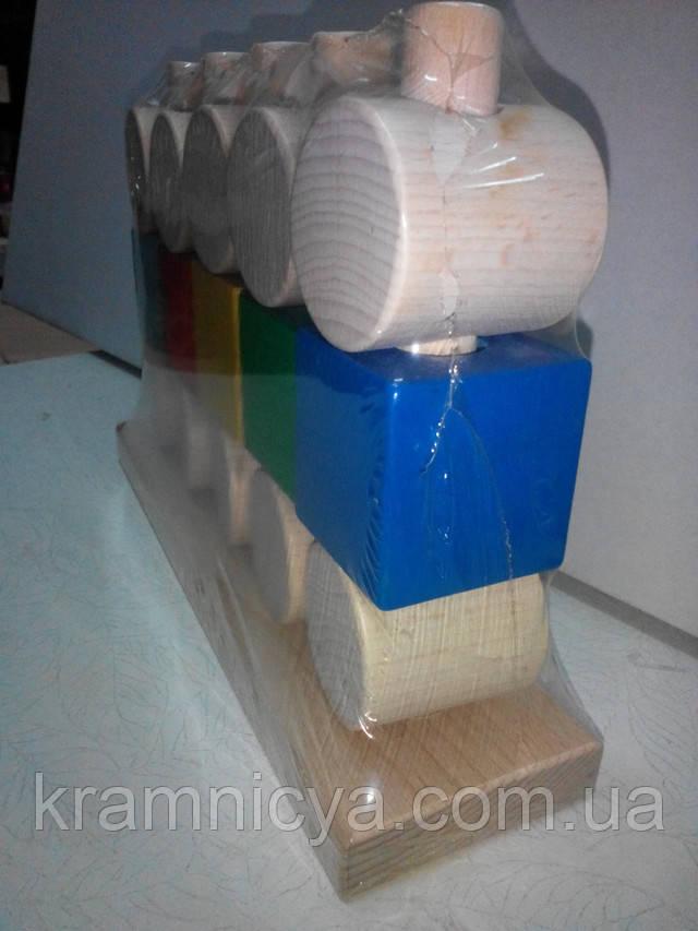 Развивающие деревянные игрушки Пирамидка-конструктор. Купить в интерент-магазине Крамниця Творчості