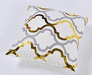 Декоративна подушка (наволочка) Колекція Золото на білому Дизайн 4, фото 3
