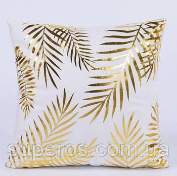 Декоративна подушка (наволочка) Колекція Золото на білому Дизайн 5