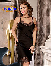 Класична чорна нічна сорочка GL 0772