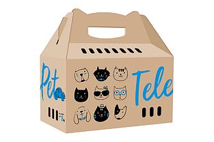 Коробка-переноска TelePet для кошек и собак 45.5×22×43.5 см до 8 кг бежевая