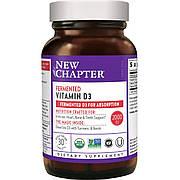 Ферментированный витамин D3, Fermented Vitamin D3, New Chapter, 30 таблеток
