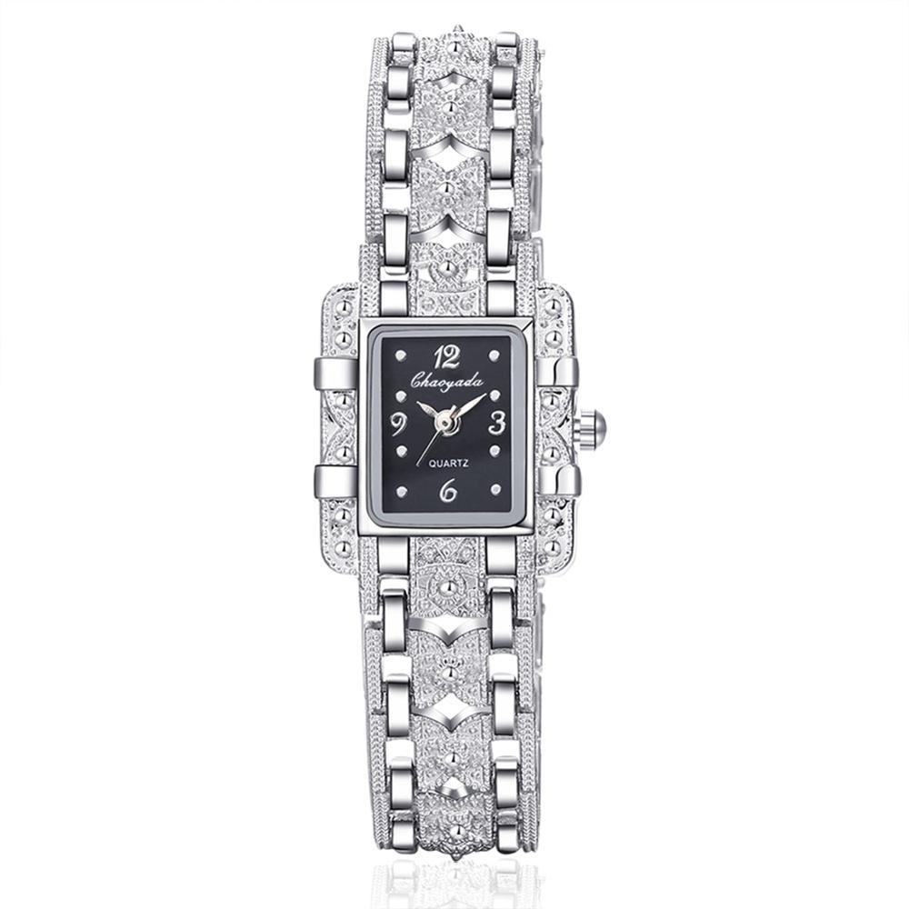Жіночі наручні годинники з срібним браслетом код 422